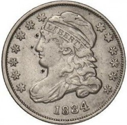 Монета > 10центов, 1828-1837 - США  (Liberty Cap Dime) - obverse