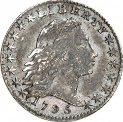 Кованица > 1диме, 1794-1795 - Сједињене Америчке Државе  (Flowing Hair Half Dime) - obverse