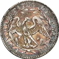 Кованица > 1диме, 1794-1795 - Сједињене Америчке Државе  (Flowing Hair Half Dime) - reverse