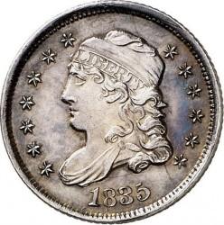 Minca > 5cents, 1829-1837 - USA  (Liberty Cap Half Dime) - obverse