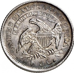 Minca > 5cents, 1829-1837 - USA  (Liberty Cap Half Dime) - reverse
