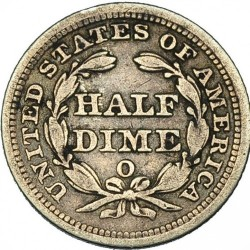Munt > ½dime, 1853-1855 - Verenigde Staten  (Seated Liberty Half Dime) - reverse