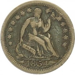 Munt > ½dime, 1853-1855 - Verenigde Staten  (Seated Liberty Half Dime) - obverse