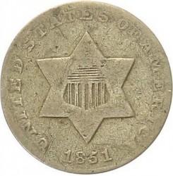 Münze > 3Cent, 1851-1853 - USA  - obverse