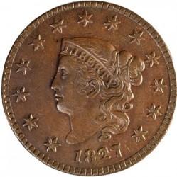 Munt > 1cent, 1816-1839 - Verenigde Staten  - obverse