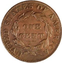 Munt > 1cent, 1816-1839 - Verenigde Staten  - reverse