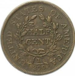Moneda > ½centavo, 1800-1808 - Estados Unidos  (Draped Bust Half Cent) - reverse