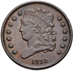 Coin > ½cent, 1809-1835 - USA  (Classic Head Half Cent) - obverse