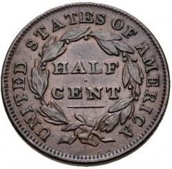 Монета > ½цента, 1809-1835 - США  (Classic Head Half Cent) - reverse