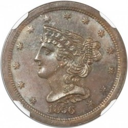 Munt > ½ cent, 1849-1857 - Verenigde Staten  (Braided Hair Half Cent) - obverse