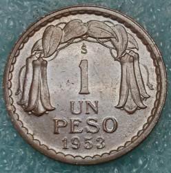 Münze > 1Peso, 1953 - Chile  - reverse