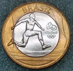 Moneda > 1real, 2014 - Brasil  (XXXI Juegos olímpicos de verano, Río de Janeiro 2016 - Atletismo) - obverse