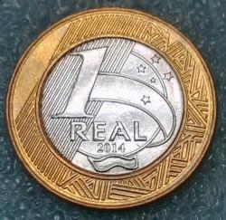 Moneda > 1real, 2014 - Brasil  (XXXI Juegos olímpicos de verano, Río de Janeiro 2016 - Atletismo) - reverse