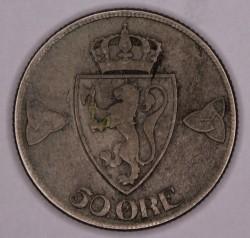 Moneta > 50erių, 1909-1919 - Norvegija  - reverse