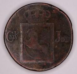 Moneta > 2skilingai, 1822-1834 - Norvegija  - obverse