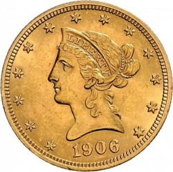 Coin > 10 dollars, 1866-1907 - USA  - obverse