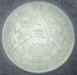 سکه > ¼کوتزال, 1926-1949 - گواتمالا  - reverse