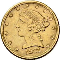 Coin > 5dollars, 1866-1908 - USA  (Half Eagle) - obverse