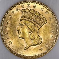 Νόμισμα > 1Δολάριο, 1856-1889 - Η.Π.Α  (Large Indian Head) - obverse