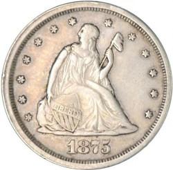 Монета > 20центов, 1875-1876 - США  - obverse