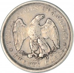 Монета > 20центов, 1875-1876 - США  - reverse