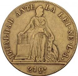 Münze > 8Escudos, 1846-1851 - Chile  - reverse