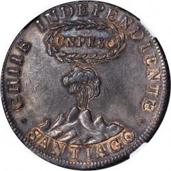"""Moneta > 1peso, 1817 - Cile  (Lettera """"Y"""" sopra la colonna) - obverse"""