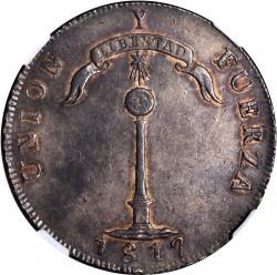 """Moneta > 1peso, 1817 - Cile  (Lettera """"Y"""" sopra la colonna) - reverse"""