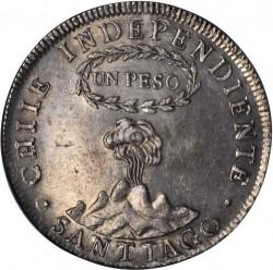 Монета > 1песо, 1817-1834 - Чилі  - obverse