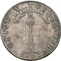 Moneta > 1peso, 1817-1834 - Cile  - obverse