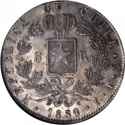 Монета > 8реалів, 1839-1840 - Чилі  - reverse