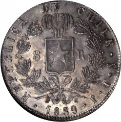 Münze > 8Reales, 1839-1840 - Chile  - reverse