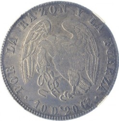 Монета > 8реалів, 1839-1840 - Чилі  - obverse