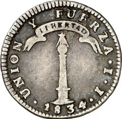 Münze > 1 Real, 1834 - Chile  - obverse