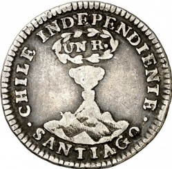 Münze > 1 Real, 1834 - Chile  - reverse
