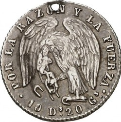 Münze > 1Real, 1843-1850 - Chile  - obverse