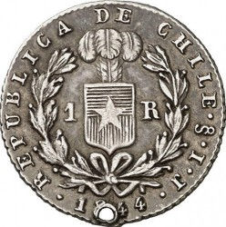 Münze > 1Real, 1843-1850 - Chile  - reverse
