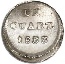 Münze > ¼Real, 1832-1834 - Chile  - reverse