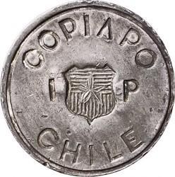 Monedă > 1peso, 1865 - Chile  (Copiapo) - obverse