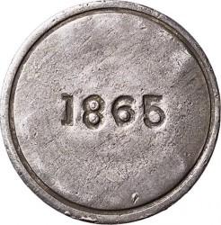 Monedă > 1peso, 1865 - Chile  (Copiapo) - reverse