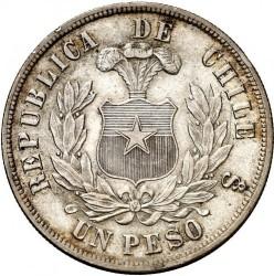 Moneta > 1peso, 1867-1891 - Cile  - reverse