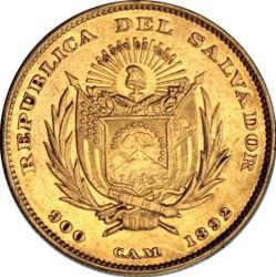 Кованица > 20пезоа, 1892 - Салвадор  - obverse