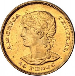 Кованица > 20пезоа, 1892 - Салвадор  - reverse