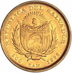 Кованица > 10пезоа, 1892 - Салвадор  - obverse