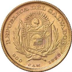 Moneta > 5pesos, 1892 - El Salvador  - obverse