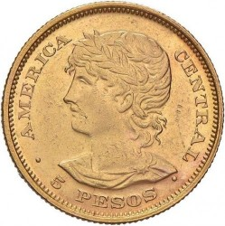 Νόμισμα > 5Πέσος, 1892 - Ελ Σαλβαδόρ  - reverse