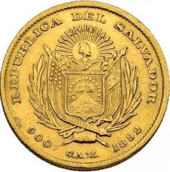 Кованица > 2½пезоа, 1892 - Салвадор  - obverse
