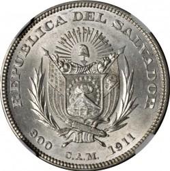 Mynt > 1peso, 1892-1914 - El Salvador  - obverse