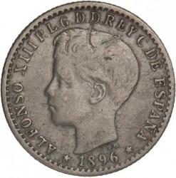 Монета > 10сентаво, 1896 - Пуэрто-Рико  - obverse