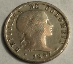 Moneta > 10sentavų, 1897 - Kolumbija  - obverse